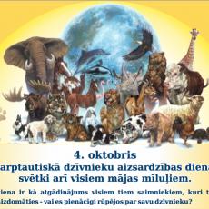 Ulubele sveic visus Pasaules dzīvnieku aizsardzības dienā